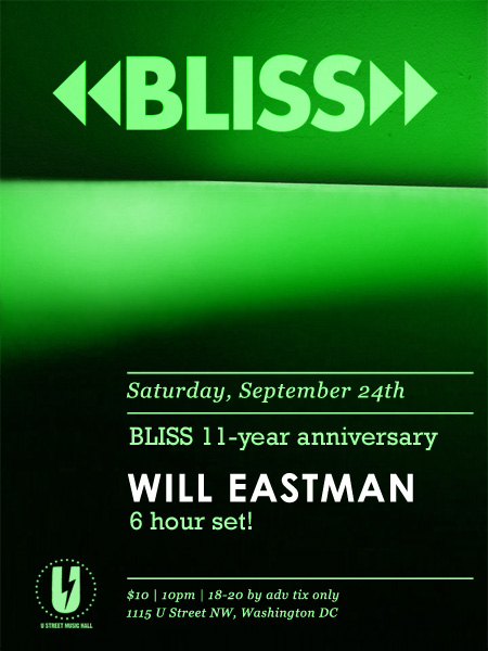 Bliss 11-Year Anniversary! Flyer